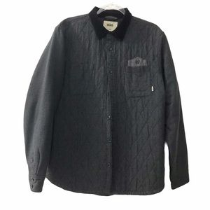 Vans Heathered Charcoal Gray Quilted Shirt Jacket